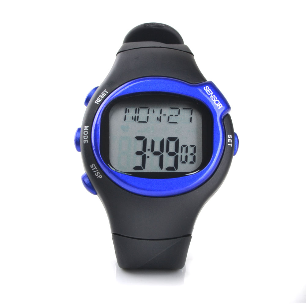 wasserdicht pulsuhr uhr herzfrequenzmesser sportuhr armbanduhr kalorien blau ebay. Black Bedroom Furniture Sets. Home Design Ideas