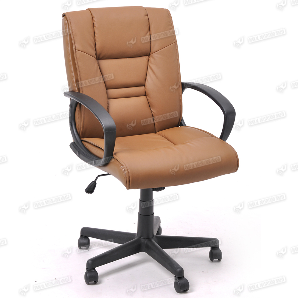 tan color high back executive office chair leather
