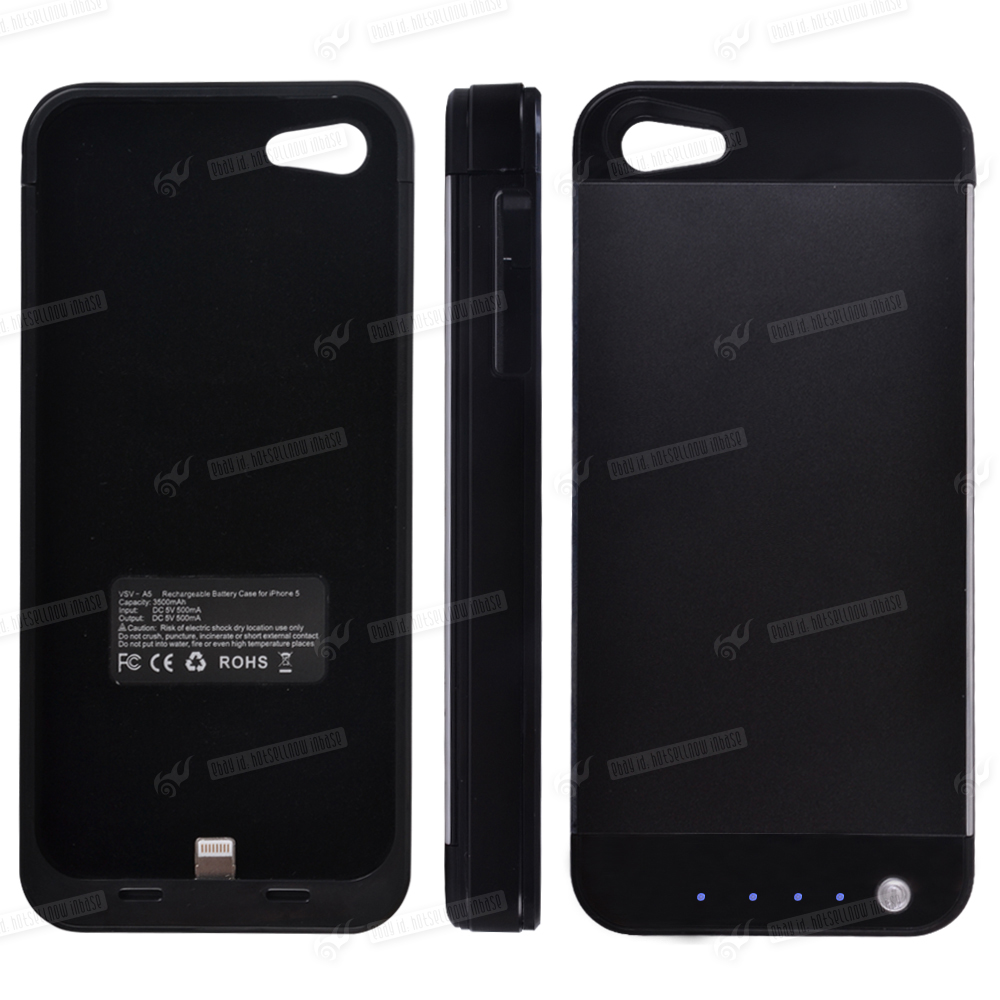 battery case externer mobil akku lade schutz h lle ladeger t f r iphone 5 5s ebay. Black Bedroom Furniture Sets. Home Design Ideas