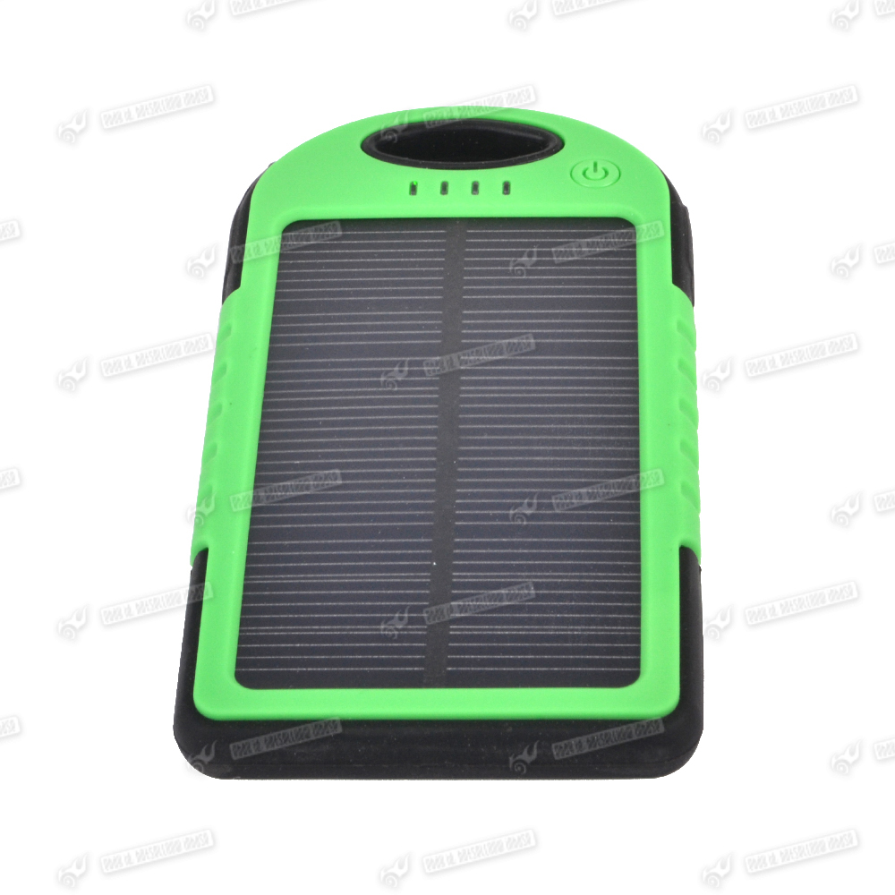 5000mah solar akku powerbank dual usb extern batterie. Black Bedroom Furniture Sets. Home Design Ideas