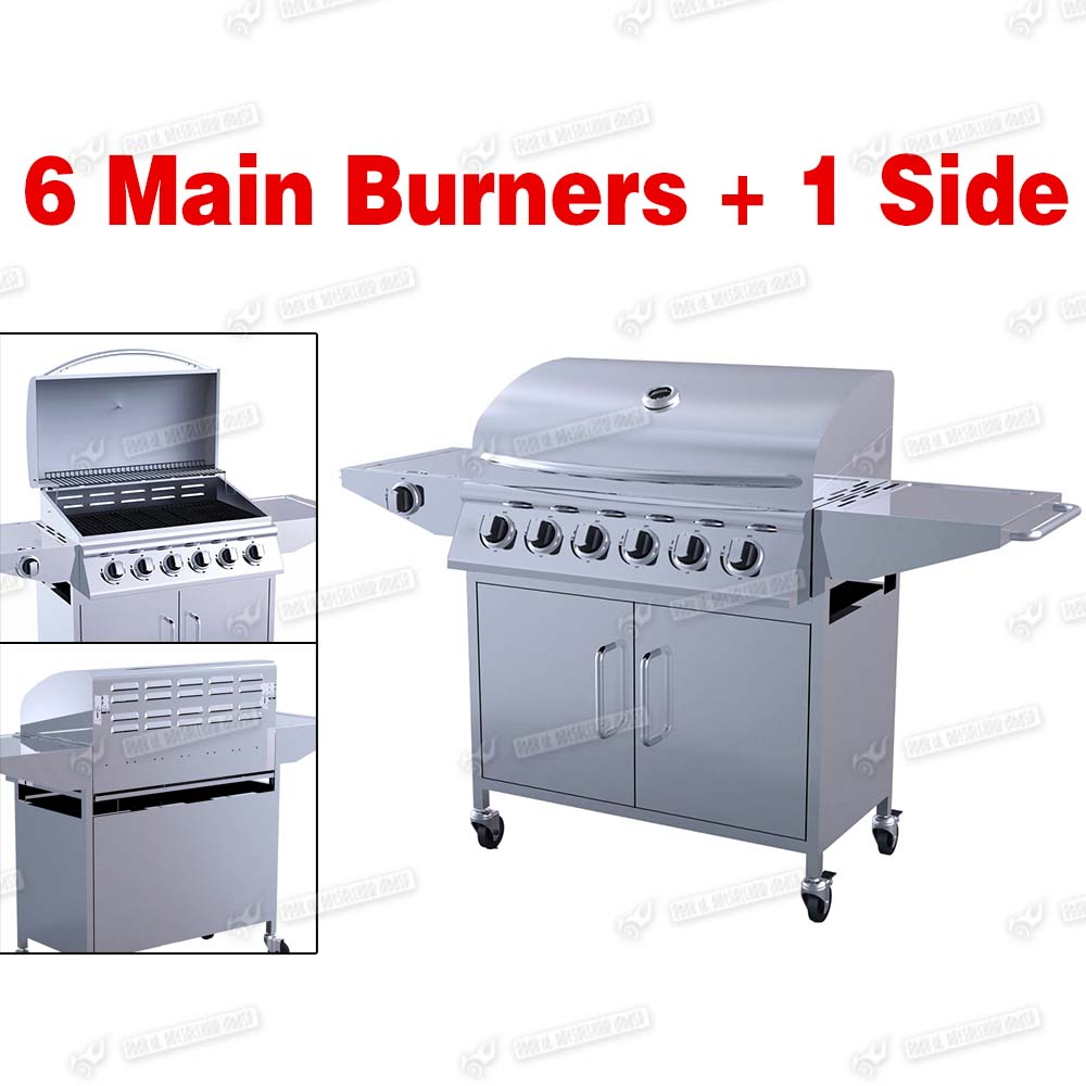 2 4 6 burner bbq gas grill stainless steel barbecue pig goat charcoal bbq ebay - Barbecue stainless steel grill ...