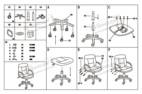 office chair adjustment instructions