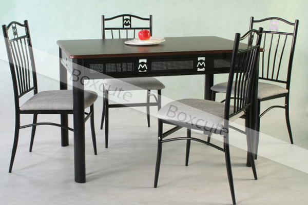 Table and chairs dining sets dining room furniture kitchen tables black tube - Elegant rustic dining table set to enhance your dining room ...