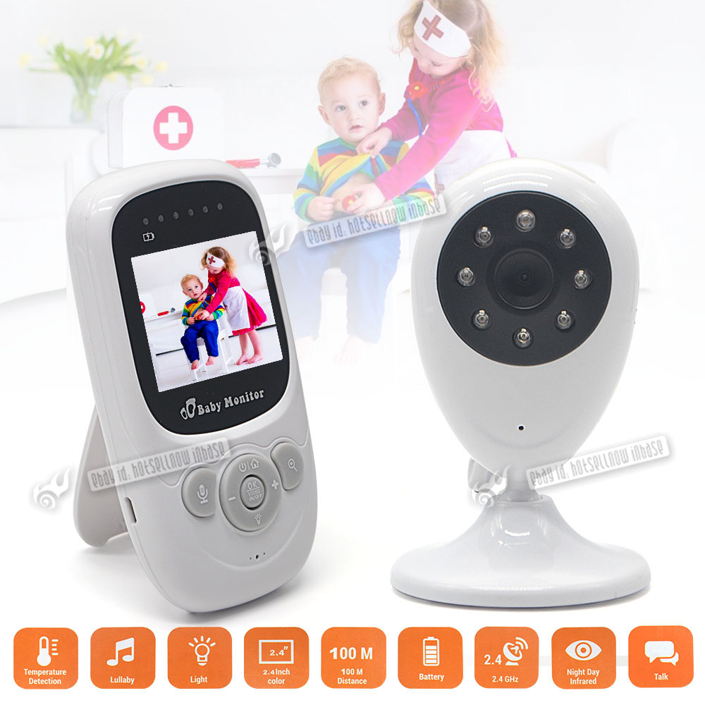 2 4ghz digital wireless video baby monitor camera audio viewer safety 2 4 uk ebay. Black Bedroom Furniture Sets. Home Design Ideas