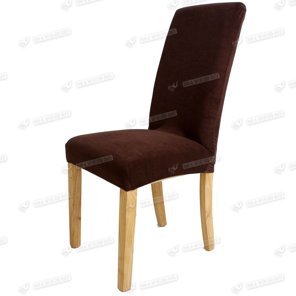 1X Elegant Dining Chair Cover Removable Stretch Chocolate  : g4 from ebay.com.au size 1000 x 1000 jpeg 107kB