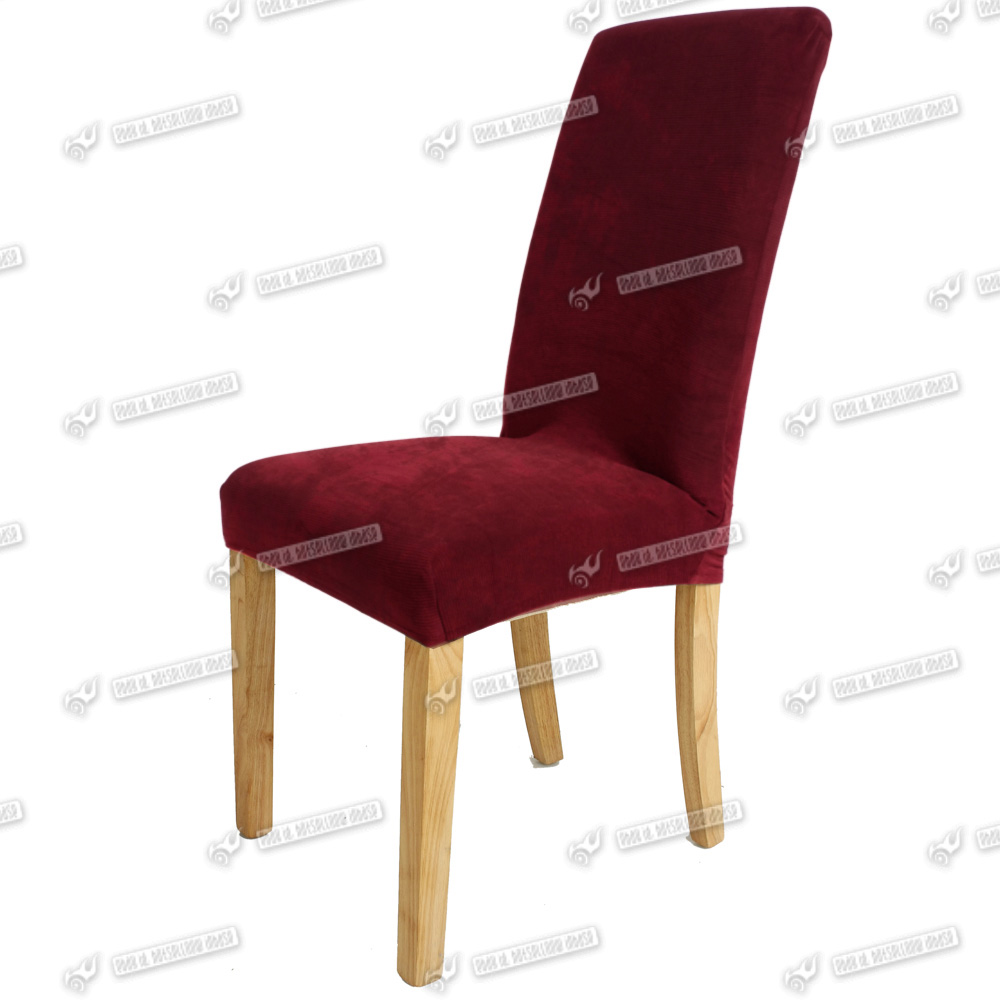 Wine red elegant dining chair cover stretch chair protector ebay