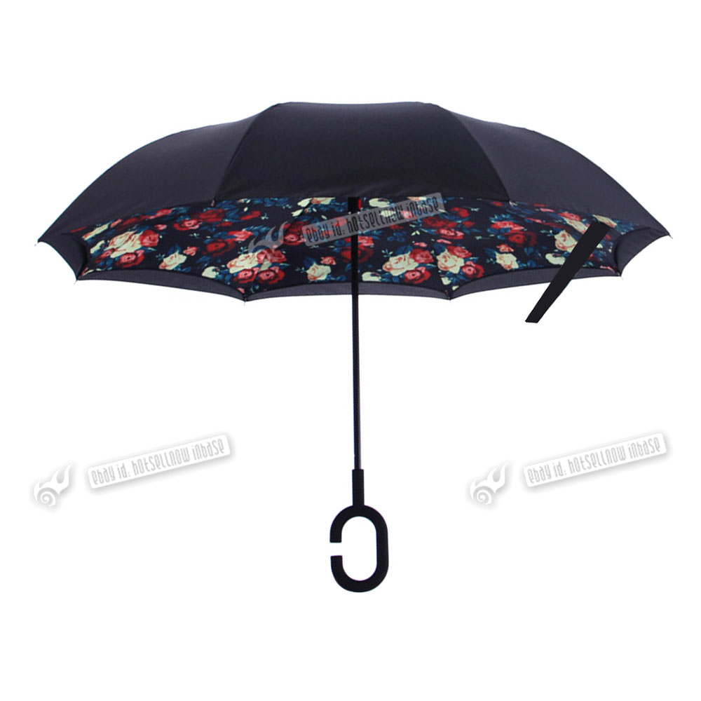 C Handle New Better Brella Double Layer Upside Down
