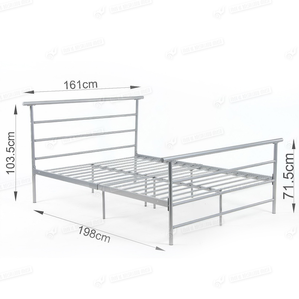 Double Metal Bed Frame 1000 x 1000