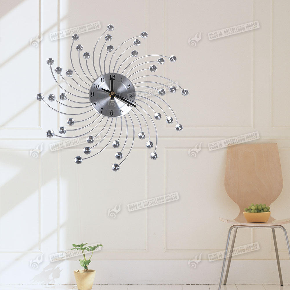 Jewelled Wall Decoration : New cm diamante wire crystal home jeweled clear wall