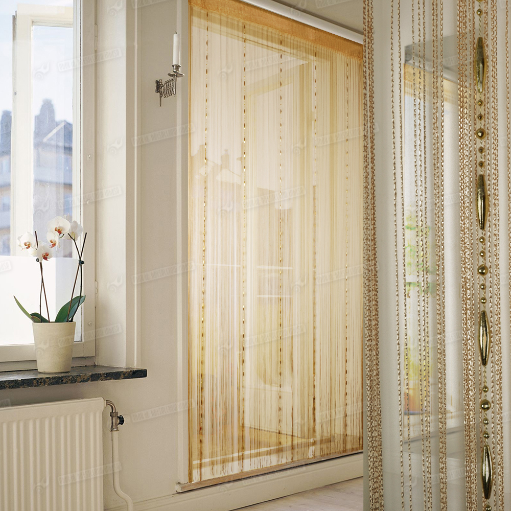 String door window curtain divider room windows blind for Window dividers