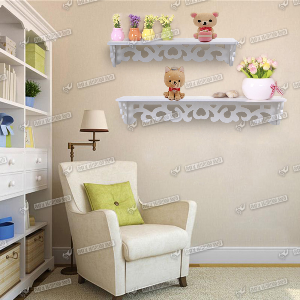 white shabby chic filigree wall shelf bookcase display storage unit home. Black Bedroom Furniture Sets. Home Design Ideas