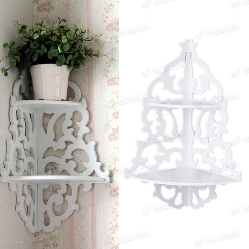 white shabby chic filigree style shelves cut out design. Black Bedroom Furniture Sets. Home Design Ideas