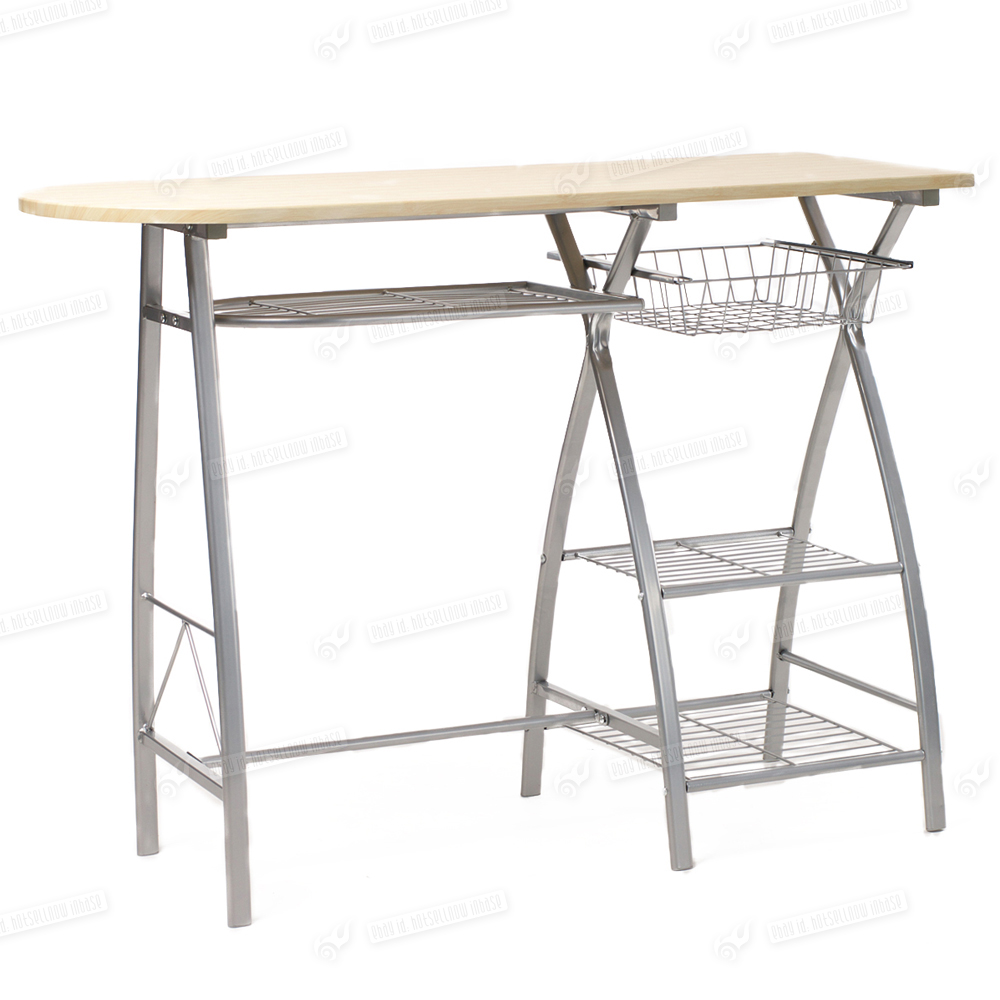 Space save modern dining breakfast bar table 2 folding for Breakfast table and chairs