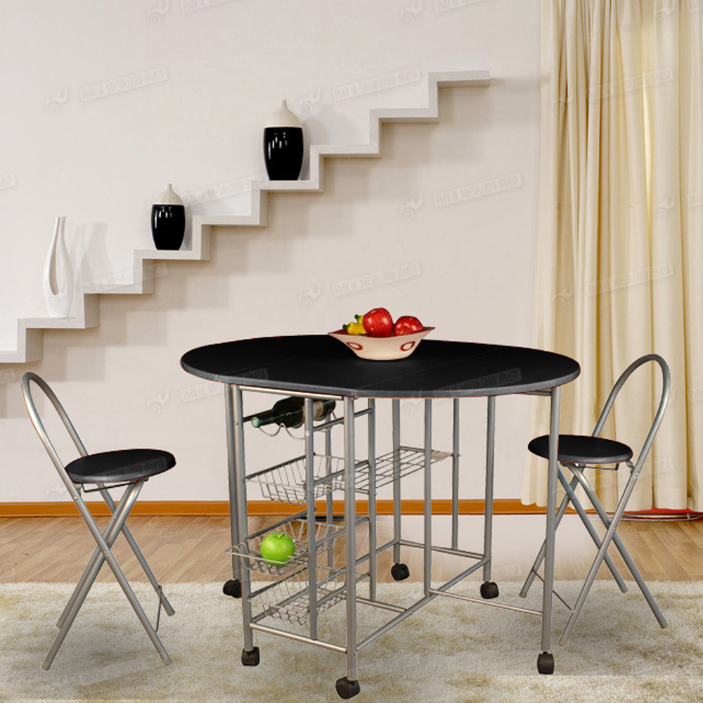 5pc butterfly foldable dining table 4 chairs extending