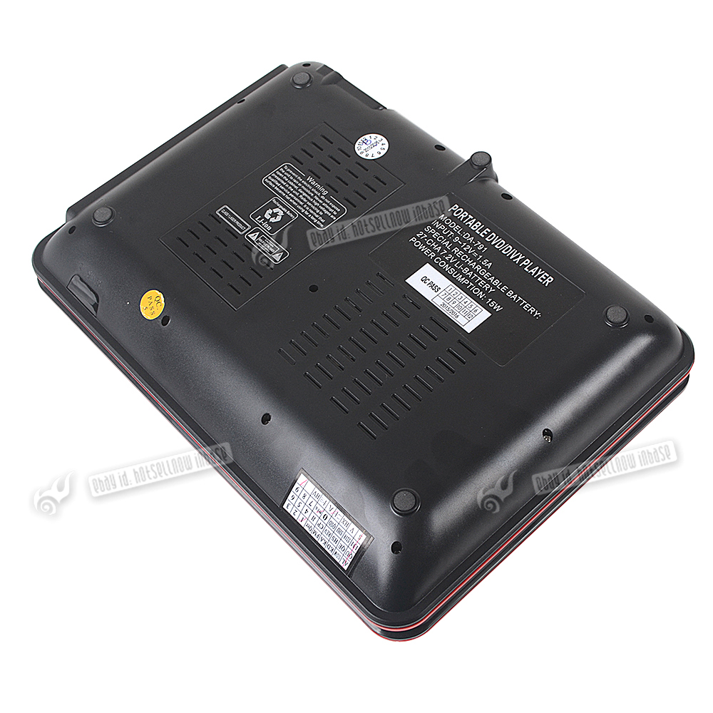 9 8 portable dvd player rechargeable swivel screen in car - Mobile porta cd ...