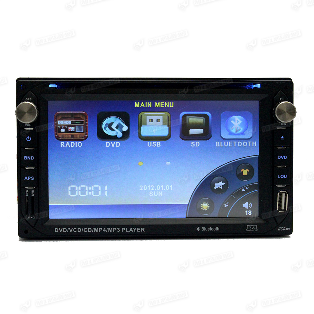 double din6 2 in dash car stereo cd dvd player fm radio usb port sdcard control. Black Bedroom Furniture Sets. Home Design Ideas