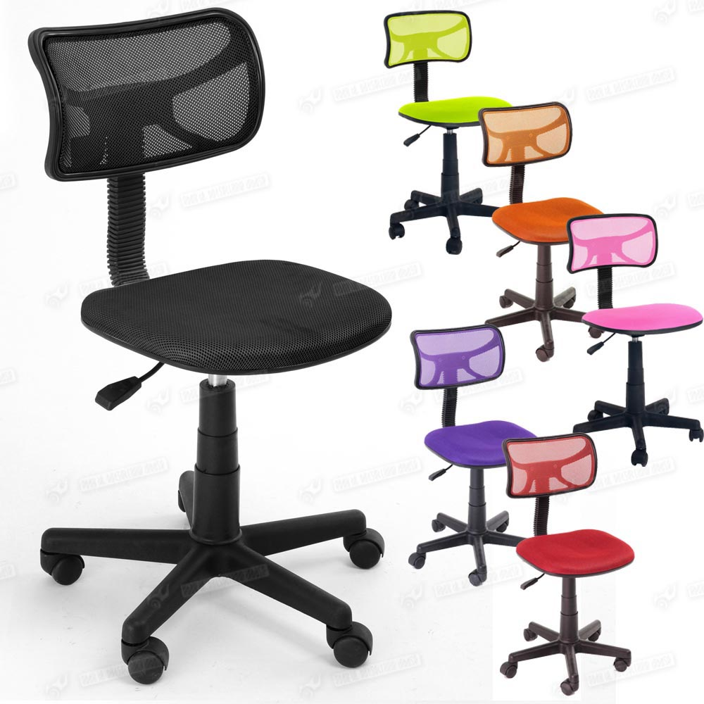 mesh fabric back office computer operator chair with wheels ebay