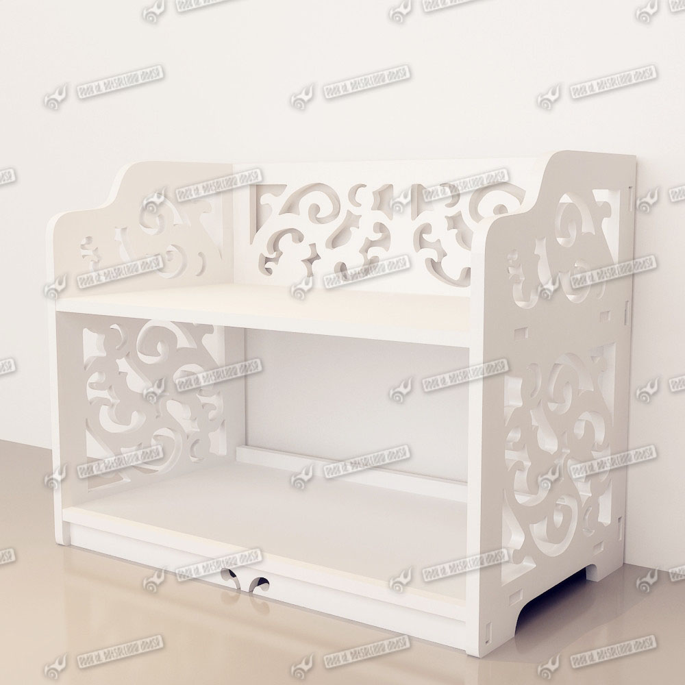 Wooden Cute Desk Organiser Two Drawers Cosmetic Stationery