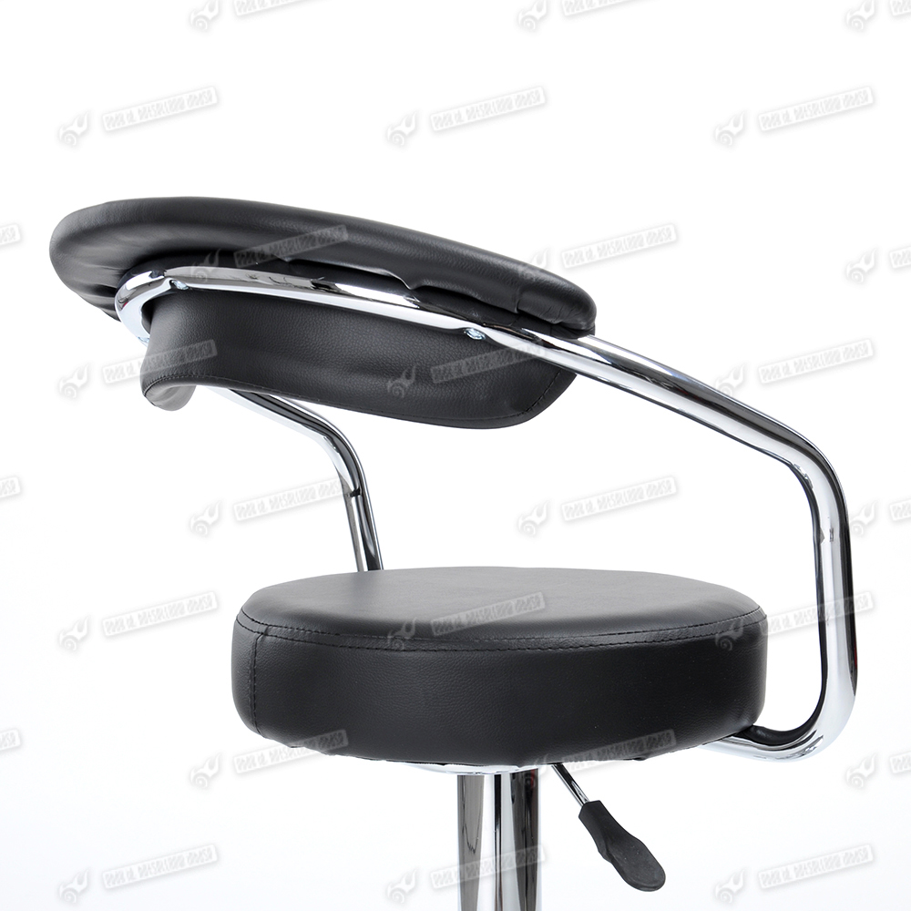 Chrome Swivel Bar Stools With Back Black Low Back Barstool