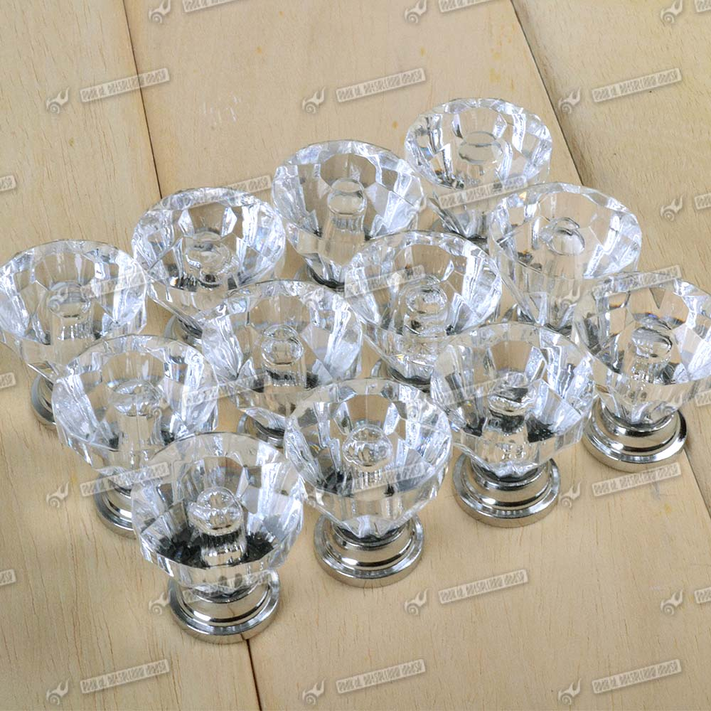 top crystal glass door knobs drawer cabinet kitchen
