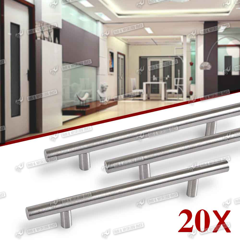 20 x t bar kitchen bedroom cabinet door handles units set for Kitchen unit set