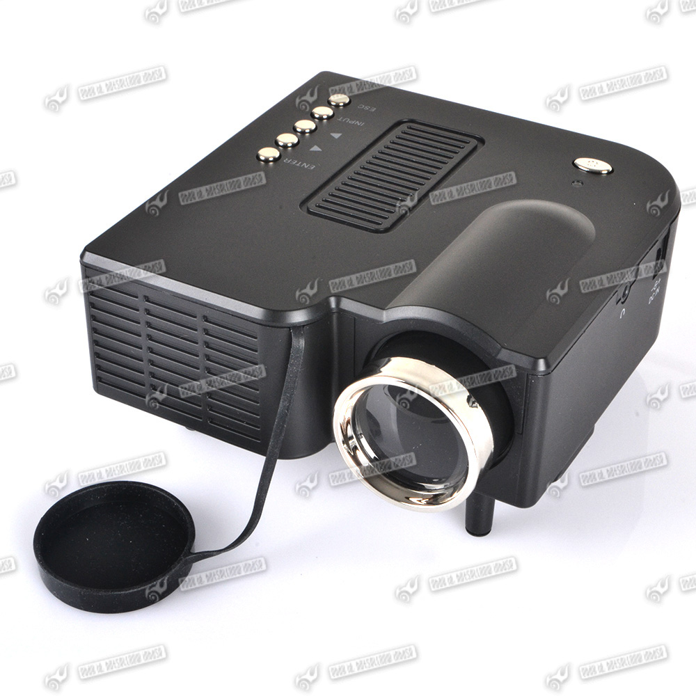Mini hd led projector 48 lux home cinema theater vga usb for Mini hd projector