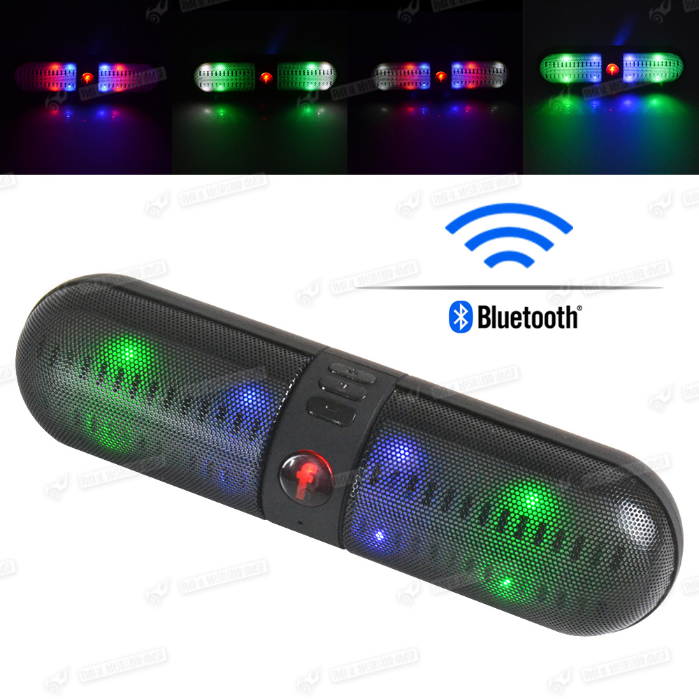 led wireless bluetooth boxen tragbarer musik mini speaker. Black Bedroom Furniture Sets. Home Design Ideas