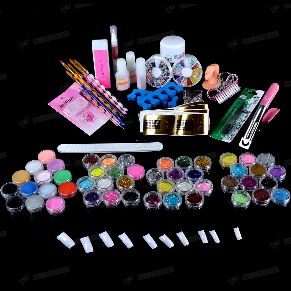 Kiss Salon Secrets Nail Art Pro Tool Kit Nsat01: Professional Acrylic Nail Kit Set Nail Art Salon