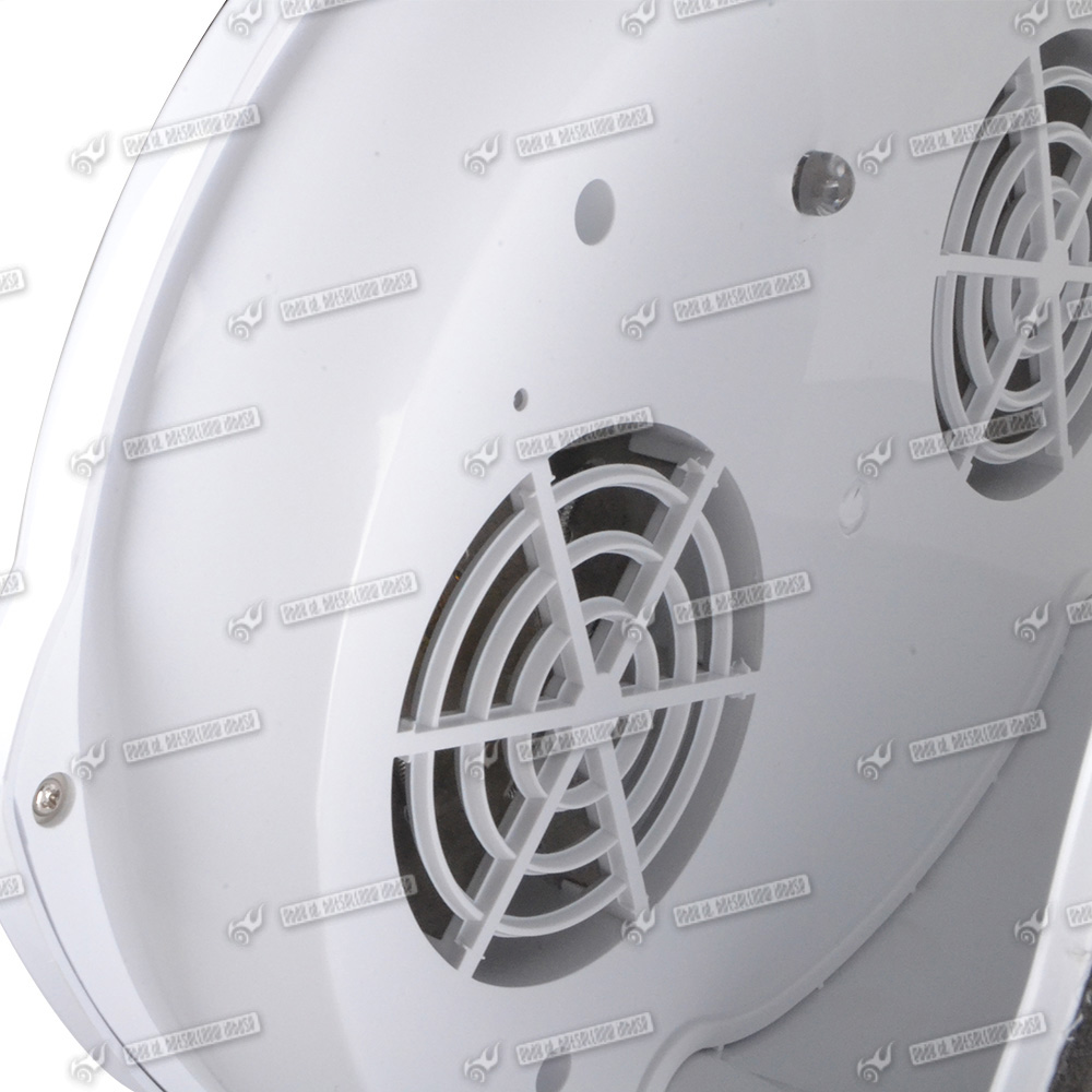 Nail Air Dryer: Modern White Nail Dryer Blower Fan Warm Cool Wind Fast Dry