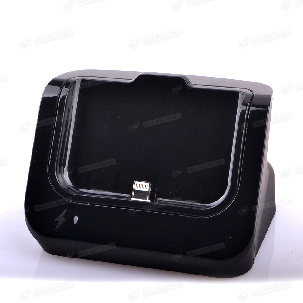 desktop usb battery charger charging dock station holder black for iphone 5 5s 6 ebay. Black Bedroom Furniture Sets. Home Design Ideas