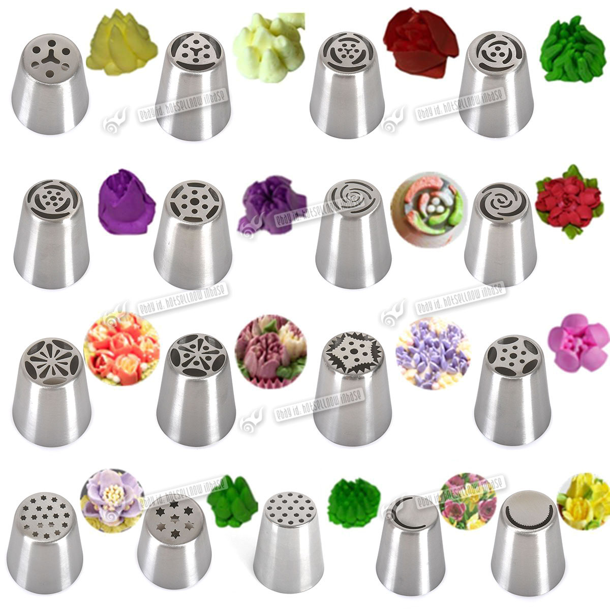 17pcs diy stars flower icing nozzles cake decorating tips for Decorating tips