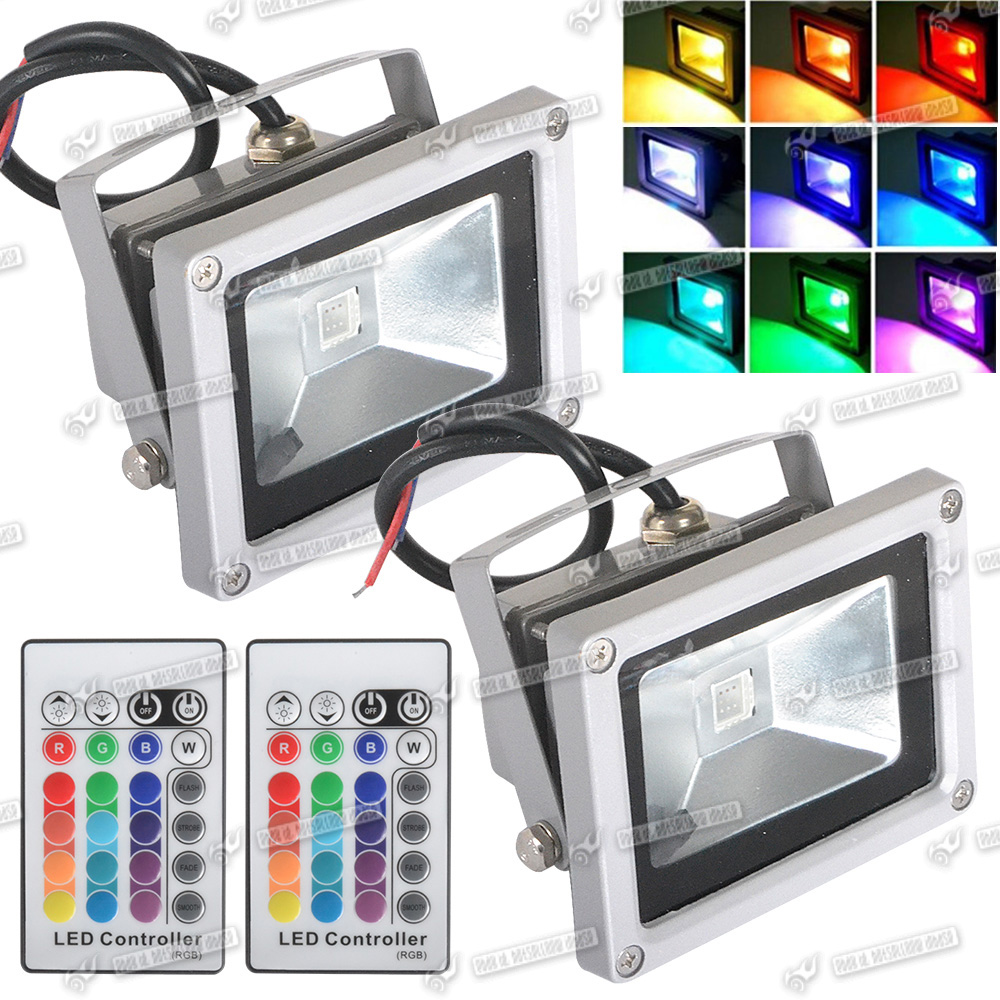 10w rgb color changing led flood light outdoor garden pond lamp ebay