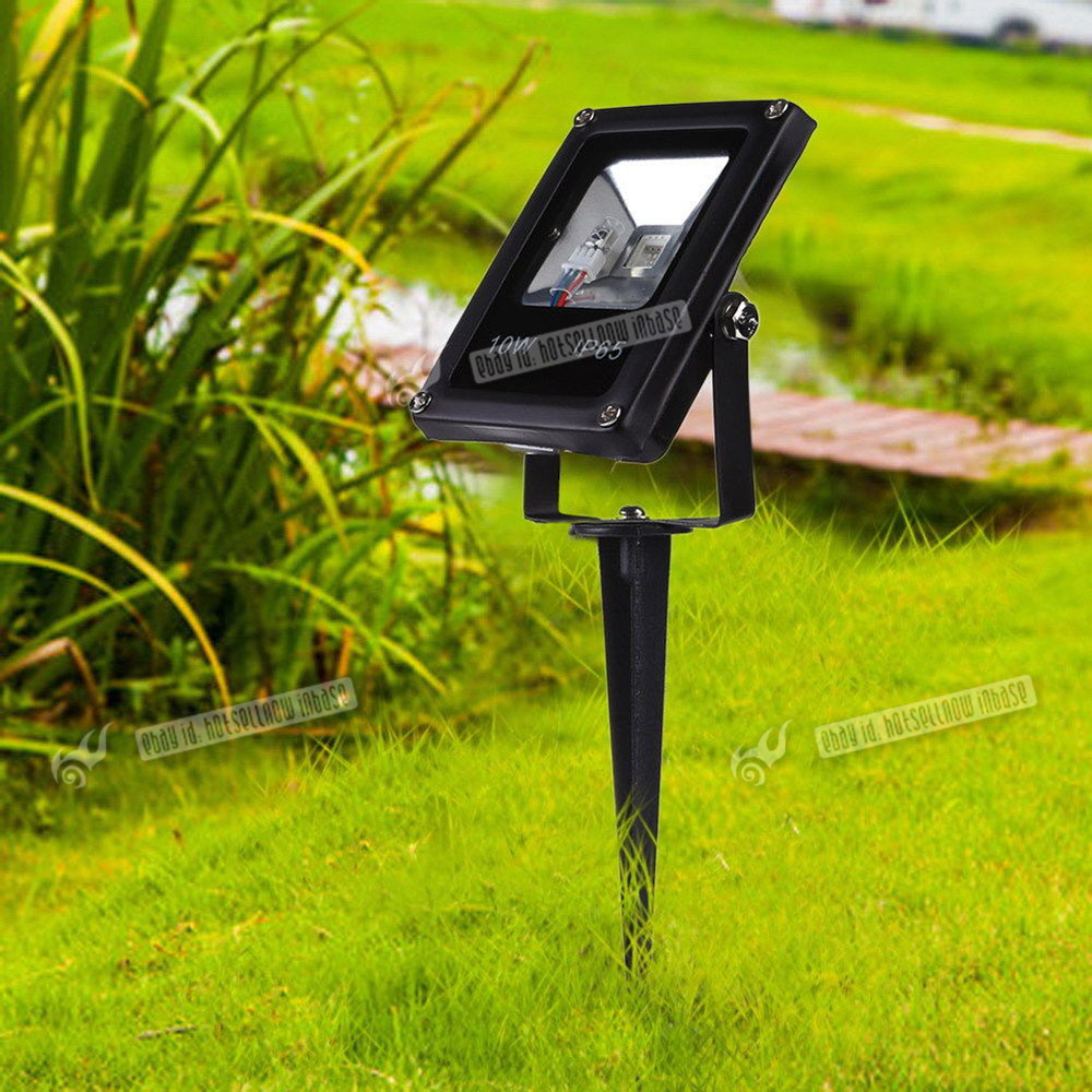 light outdoor garden lawn landscape led rgb spotlight path lamp ground lighting ebay. Black Bedroom Furniture Sets. Home Design Ideas