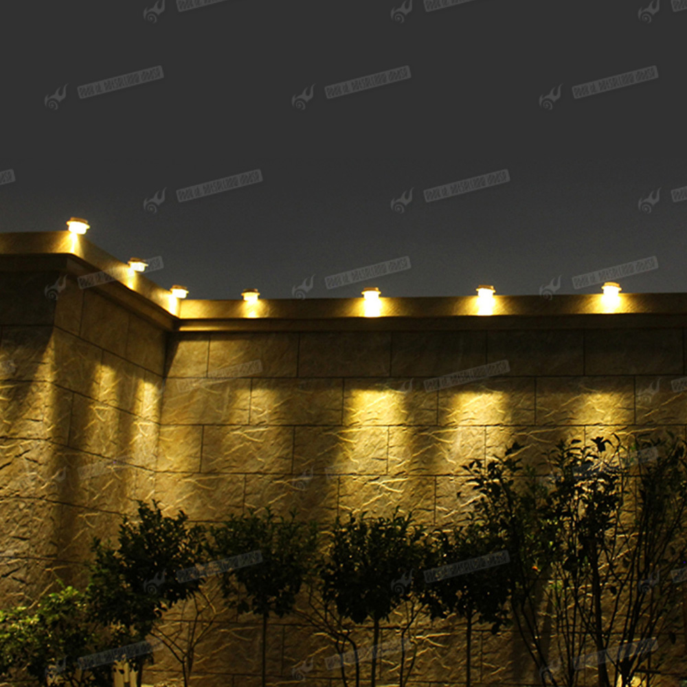 Solar Lights Roof: 6 X Outdoor Solar LED Gutter Lights Garden Fence Wall Roof