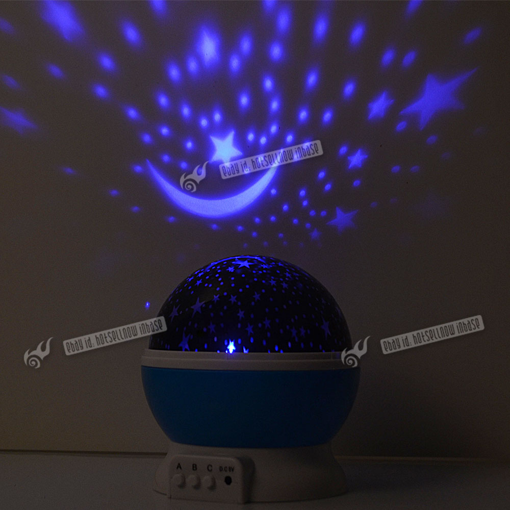 Led Rotating Star Projector Baby Night Light Kids Nursery