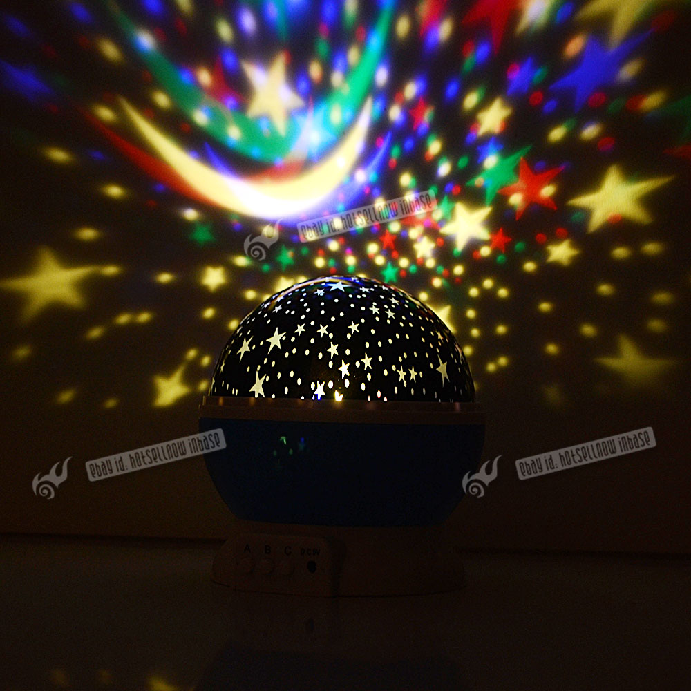 led rotating star projector baby night light kids nursery. Black Bedroom Furniture Sets. Home Design Ideas