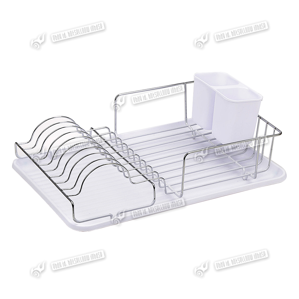 Kitchen Dish Rack Hot Large Plastic Kitchen Sink Dish Drainer Drip Tray Plate