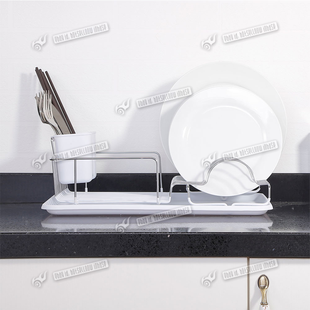 high quality chrome kitchen sink dish drainer plate rack