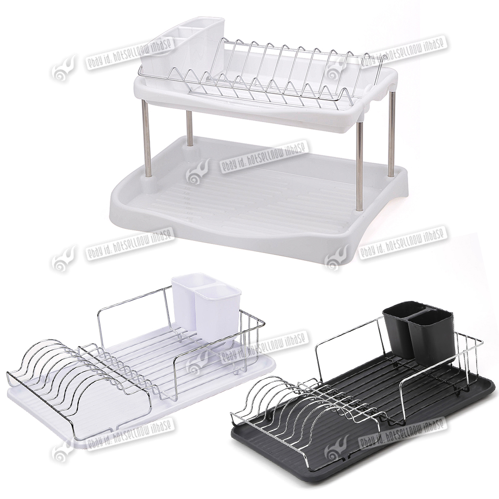 kitchen sink dish drainer chrome draining plate rack plate