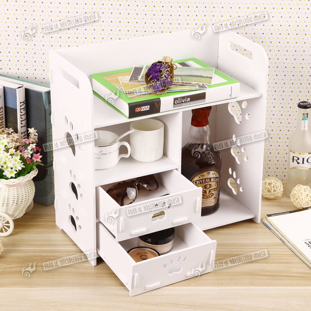 Novelty desk tidy desktop stationery organiser book holder drawers hollow gift ebay - Desk stationery organiser ...
