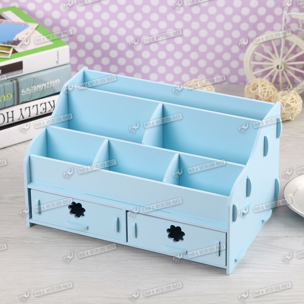 Desk Tidy Office Organiser Drawer Cosmetic Storage Makeup Stationery Ebay