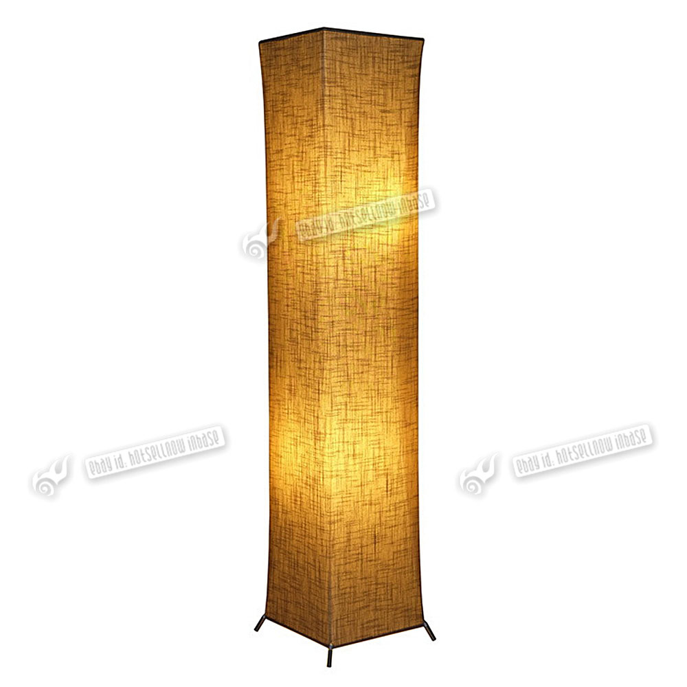 leisa soft lighting square floor lamp modern mood paper fabric  - leisa soft lighting square floor lamp modern mood paper fabric warm colorlight
