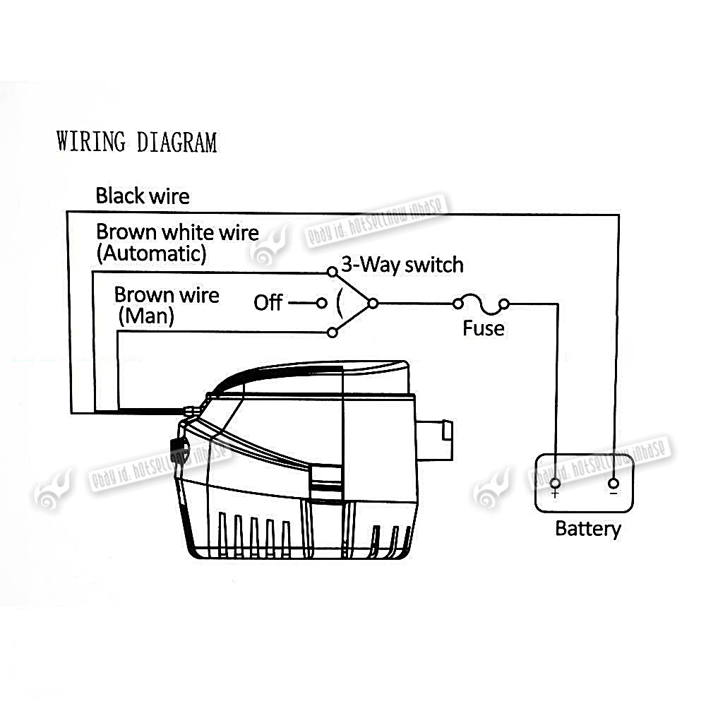 Wiring Diagram For Float Switch On A Bilge Pump : Gph v automatic bilge pump with internal float switch