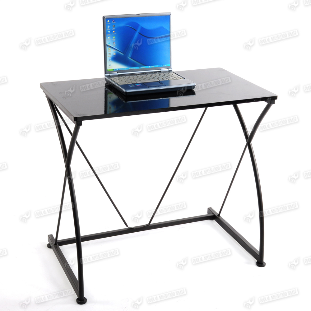 Space save small metal office computer desk table laptop - Computer desk small space ...