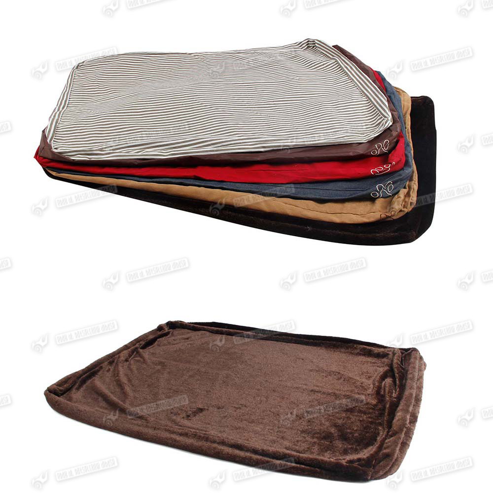 Warm Large Dog Bed Pet Mat Cover Bed Canvas Cotton Fleece