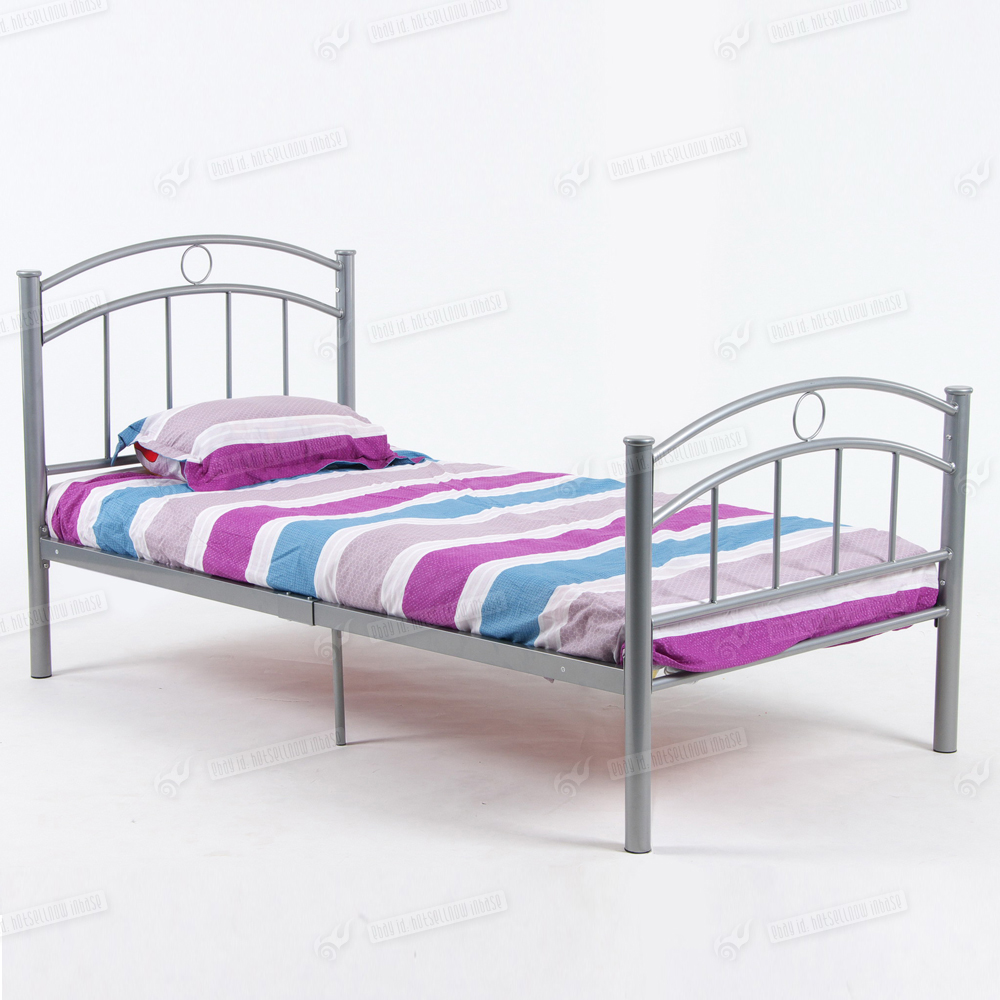 3ft single metal bed frame without trundle and mattress for Steel bed frame