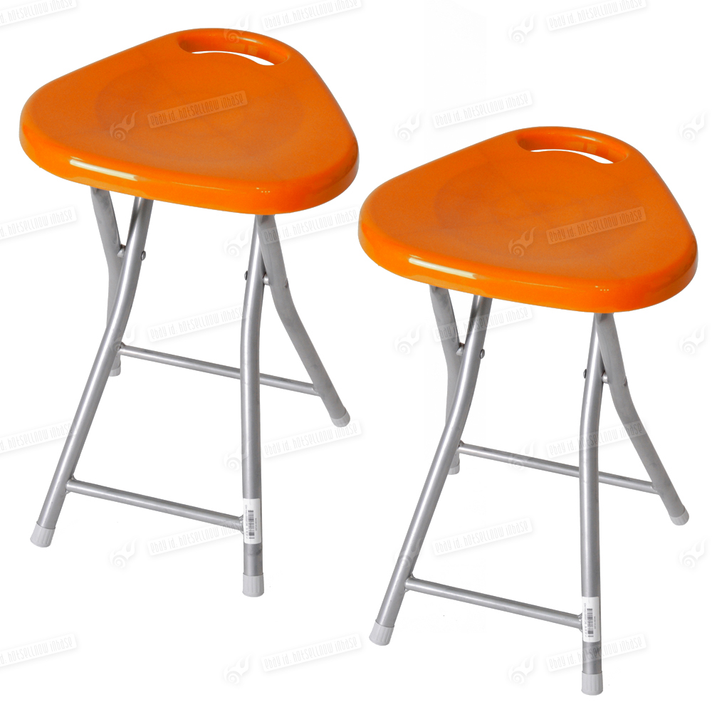 Set of 2 Folding Kitchen Breakfast Bar Stools Barstool Chairs Seat Modern