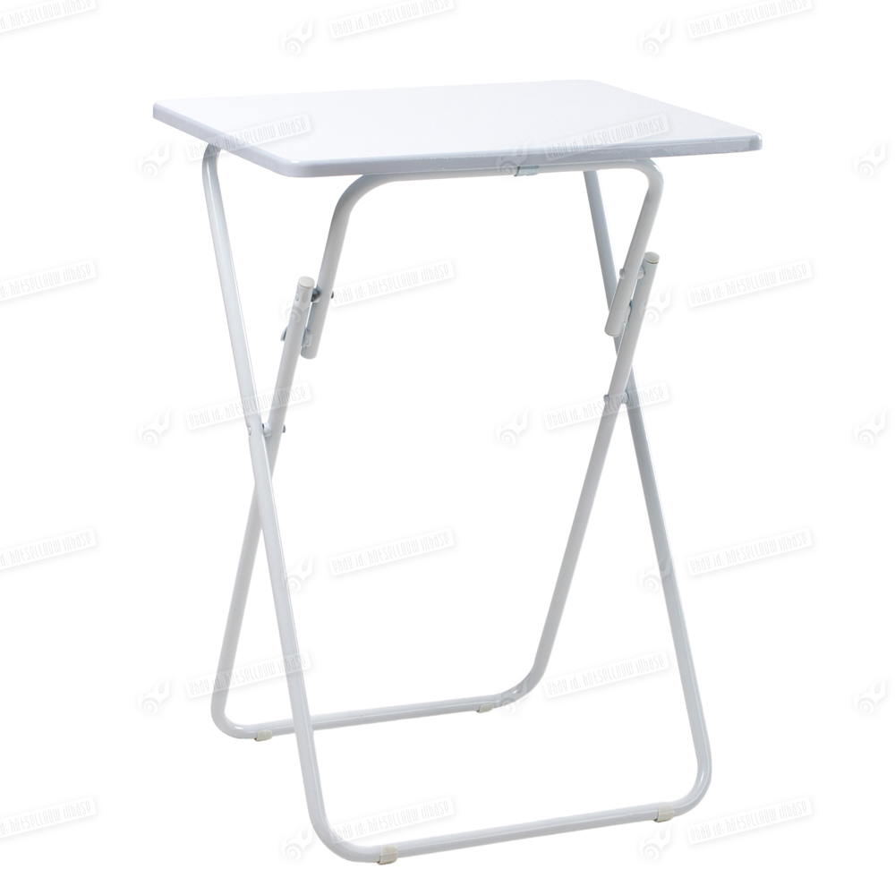 small snack side table folding white desk foldable portable dining tables home ebay. Black Bedroom Furniture Sets. Home Design Ideas