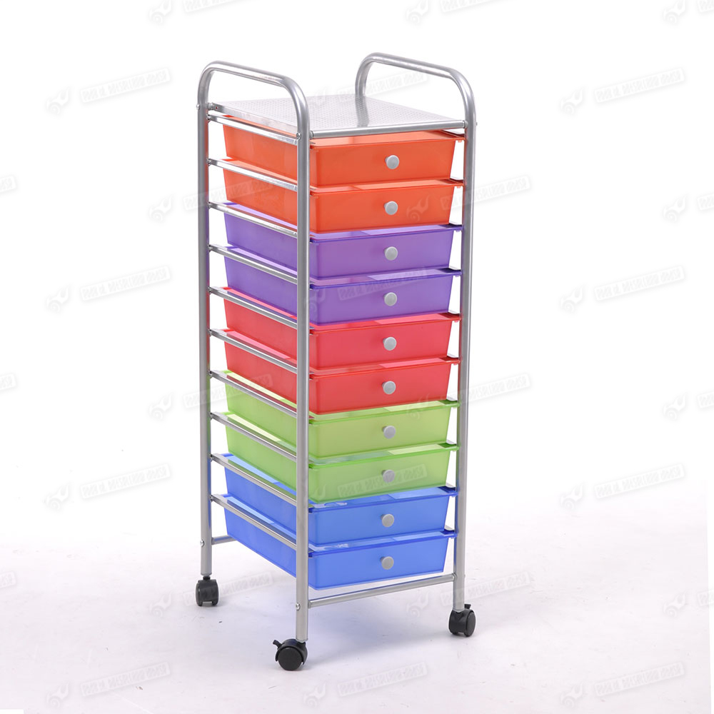 Space Save 10 Tier Drawer Portable Storage Box Trolley
