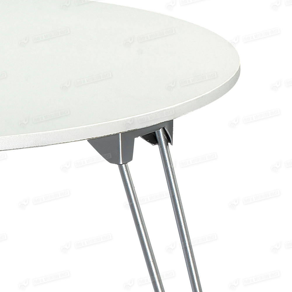 Round Coffee Table With Metal Legs: White PP Plastic Top Coffee Table Round Metal Tube Three